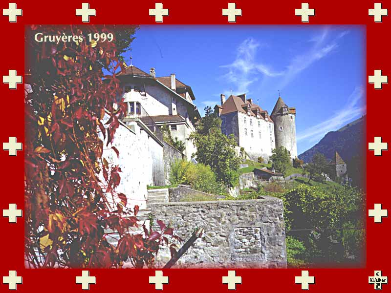 The old chateau of Gruyères, 1999