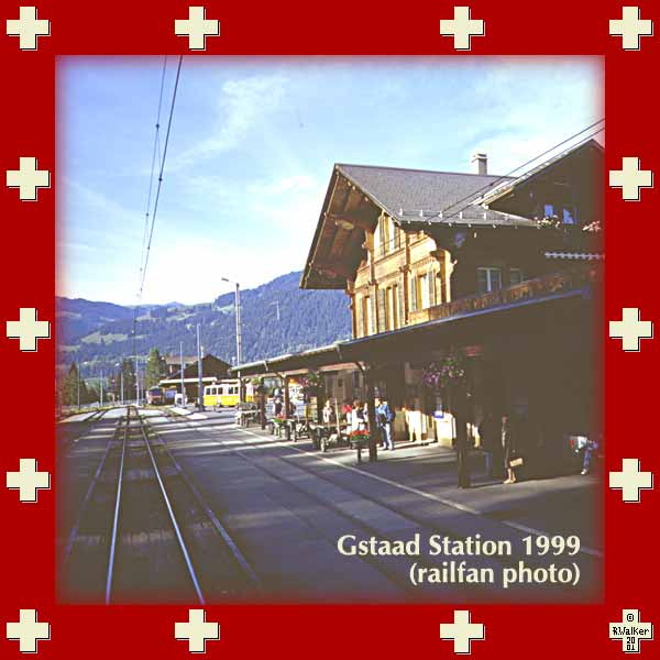 Gstaad station (MOB line) 1999 - railfan shot only
