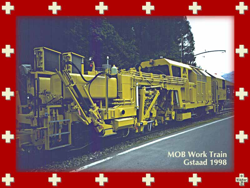 An MOB work train at Gstaad, 1998