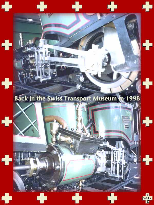 Lok 7 of the Vitznau-Rigi Bahn, back in the Transport Museum for another 25 years, 1998