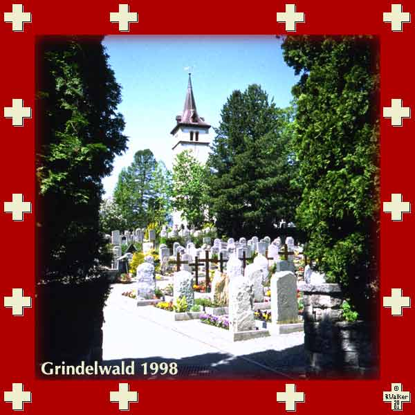 Church cemetery in Grindelwald, 1998
